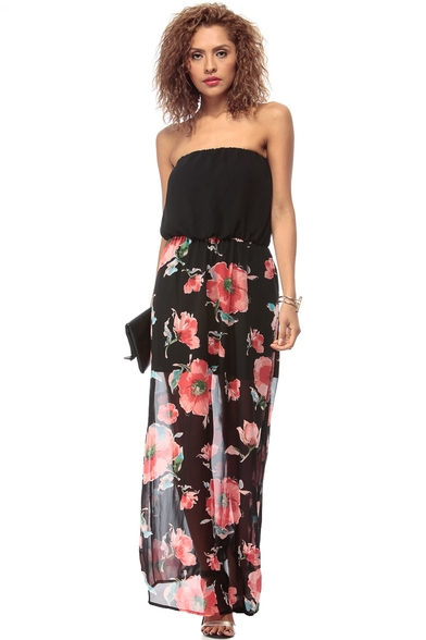 Fashionable Strapless Maxi Dresses - Trendy clothing for girls